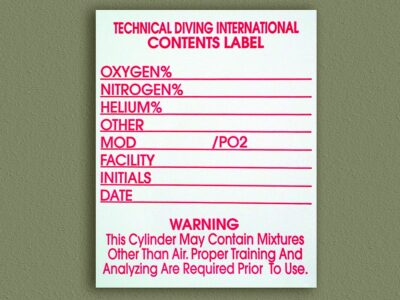 TDI SDI Content Label – 10 pack